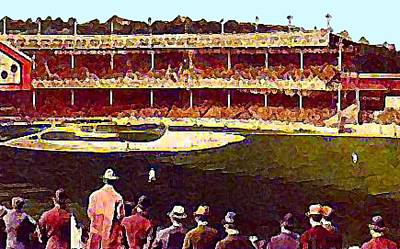 Polo Grounds In New York City 1920's Art Print by Dwight Goss