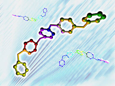 Polymer Photograph - Polymer Molecular Structure by Pasieka