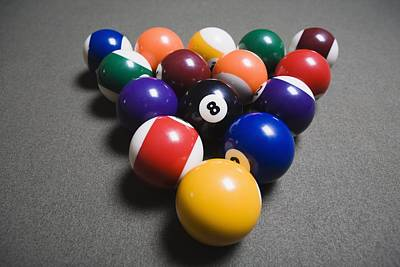 Modern Man Music - Pool Balls On A Billiard Table With The by Michael Interisano