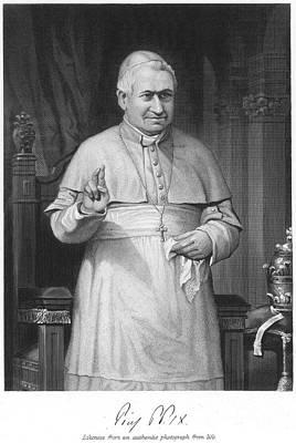 Skullcap Photograph - Pope Pius Ix (1792-1878) by Granger