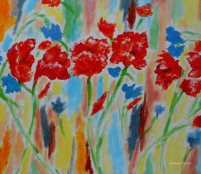 Painting - Poppies by Jamie Frier