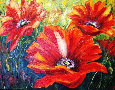 Poppy Flowers In Bloom Art Print