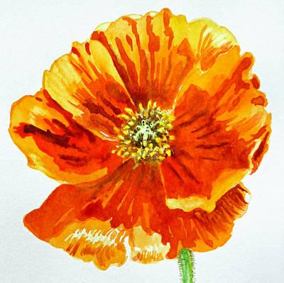 Notecards Painting - Poppy by Irina Sztukowski