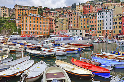 Port Of Camogli Art Print by Joana Kruse