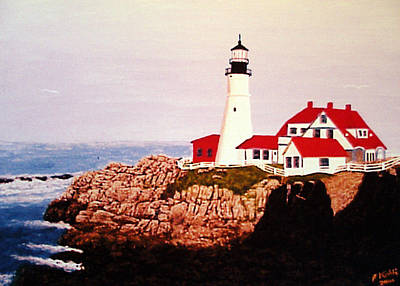 Painting - Portland Head Light by Frederic Kohli