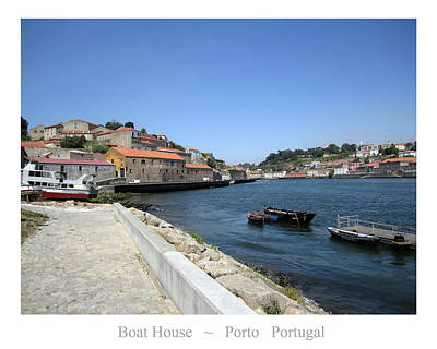 Photograph - Porto Boat House Portugal by John Shiron