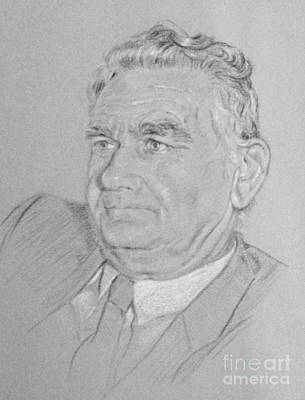 Drawing - Portrait Of A Man John by Gillian Owen