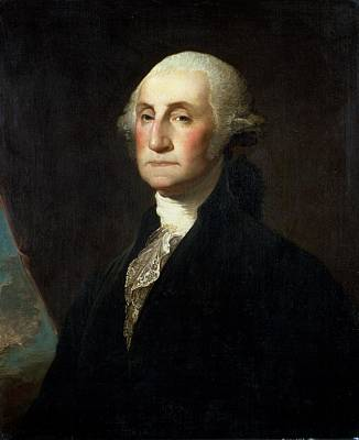 Copy Painting - Portrait Of George Washington by Gilbert Stuart