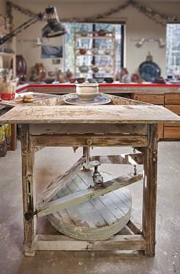 Modeling Clay Photograph - Pottery Studio Hockinson Washington Usa by Bryan Mullennix