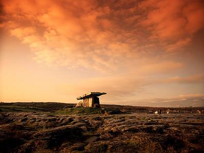 Megalith Photograph - Poulnabrone Dolmen, The Burren, Co by The Irish Image Collection