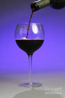 Pouring Wine Art Print by Photo Researchers, Inc.
