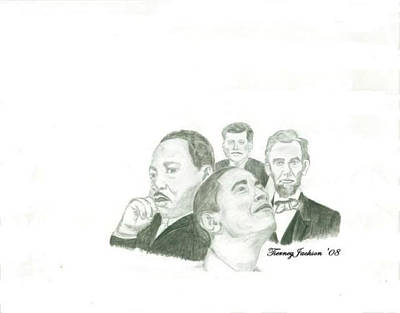 John F Kennedy Drawing - Power Of Vision by Tierney Jackson