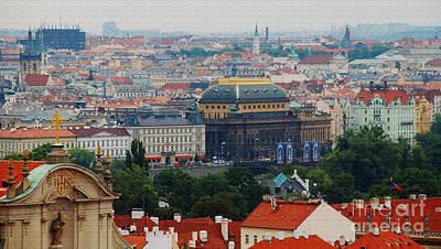 Prague Skyline Art Print by Pravine Chester