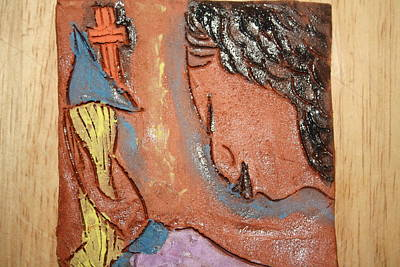 Ceramic Art - Prayer 26 - Tile by Gloria Ssali