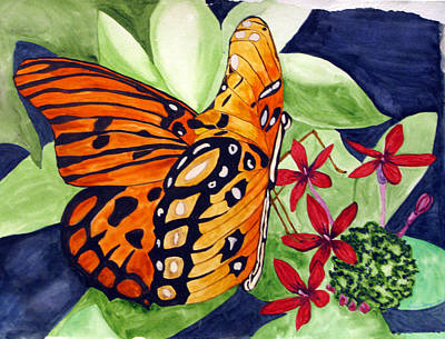 Precocious Butterfly Art Print