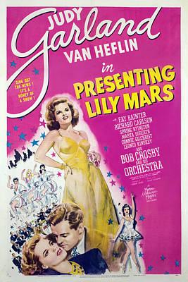 1940s Poster Art Photograph - Presenting Lily Mars, Judy Garland, Van by Everett