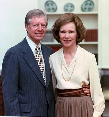 President Jimmy Carter And Rosalynn Art Print
