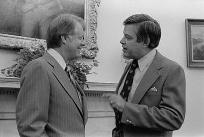 President Jimmy Carter With Senator Art Print by Everett