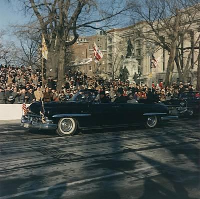 President John F. Kennedy And First Art Print
