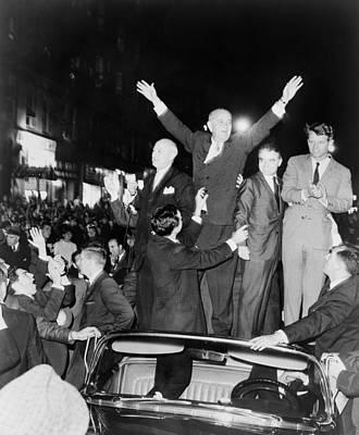 Lyndon Photograph - President Lyndon Johnson And Robert by Everett