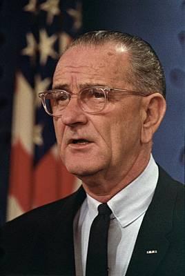 President Lyndon Johnson Print by Everett
