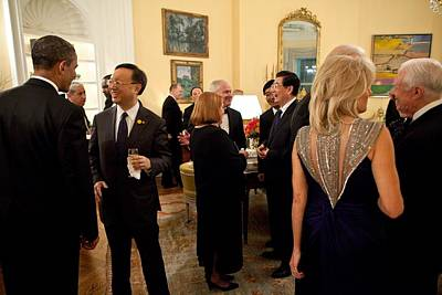 President Obama And Chinese President Art Print by Everett
