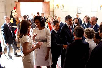 Barack Obama Photograph - President Obama And French President by Everett