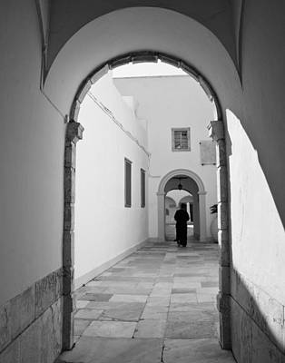 Photograph - Priest In The Cloister by Susan OBrien