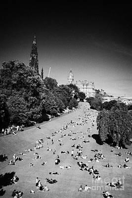 Princes Street Gardens On A Hot Summers Day In Edinburgh Scotland Uk United Kingdom Art Print by Joe Fox