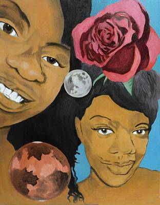 Painting - Princess Scorpio And Mars Red Rose by Angelo Thomas