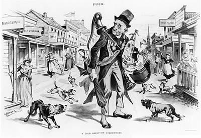 Social Movements Photograph - Prohibition-era Cartoon by Photo Researchers