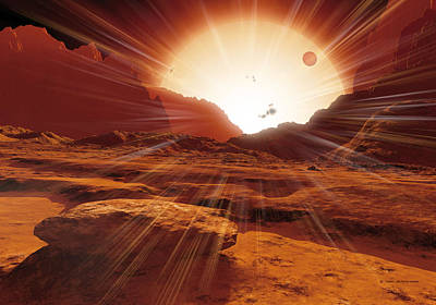 Proxima Centauri Photograph - Proxima Centauri Planet, Artwork by Detlev Van Ravenswaay