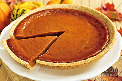 Thanksgiving Photograph - Pumpkin Pie by Elena Elisseeva