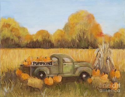 Painting - Pumpkins For Sale by Pati Pelz
