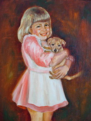 Puppy Love Art Print by Holly LaDue Ulrich