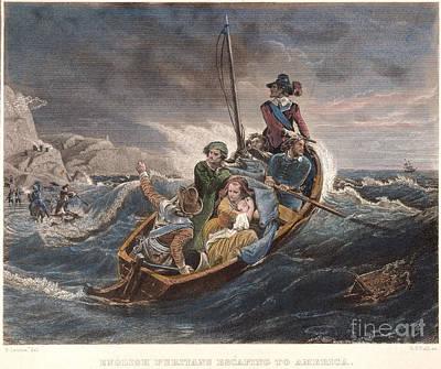 Puritan Fugitives Art Print by Granger
