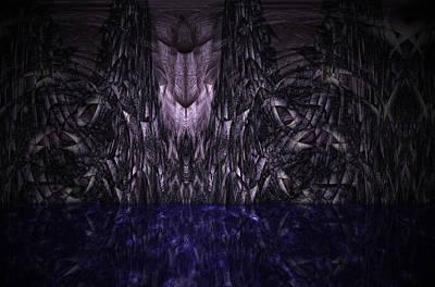 Purple Caverns Art Print by Christopher Gaston