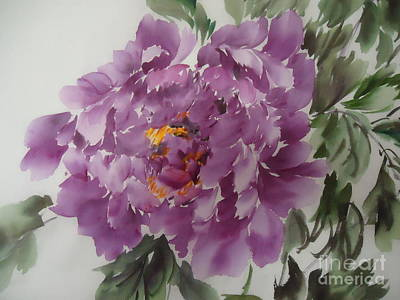 Art Print featuring the painting Purple King-1 by Dongling Sun
