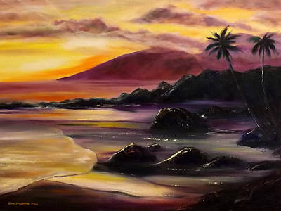 Painting - Purple Sunset by Gina De Gorna