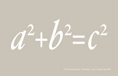 Pythagoras Maths Equation Art Print by Michael Tompsett