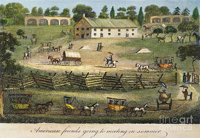 Quaker Meeting, 1811 Art Print by Granger