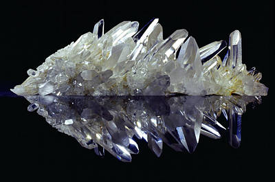 Reflective Surfaces Photograph - Quartz Crystals by Dirk Wiersma