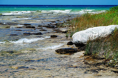Quiet Waves Along The Shore Art Print by Janice Adomeit