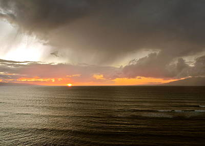 Photograph - Rain Over A Maui Sunset  by Kirsten Giving
