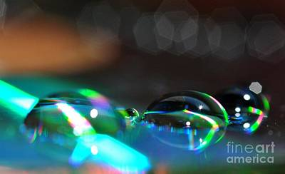 Art Print featuring the photograph Rainbow Drops by Sylvie Leandre