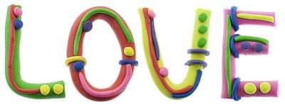 Plasticine Photograph - Real Cheerful Plasticine Alphabet by Aleksandr Volkov