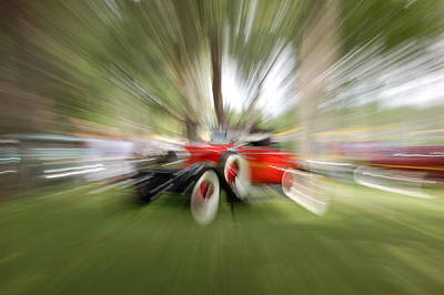 Photograph - Red Antique Car by Randy J Heath