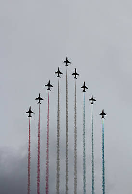 Red Arrows Vertical Art Print by Jasna Buncic