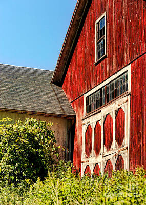 Rural Decay Photograph - Red Barn by HD Connelly