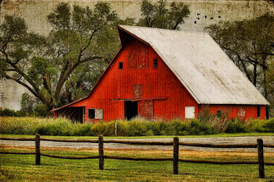 Red Barn Art Print by Joan Bertucci